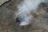 kilauea erupting from the air