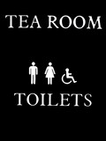 tea room and toilets sign. abstract,sign/symbol, poster