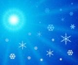 moon snowflakes poster