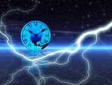 night time. lightning poster