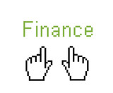 online finance - web shopping poster