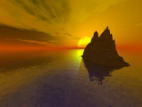 sundown 3d poster