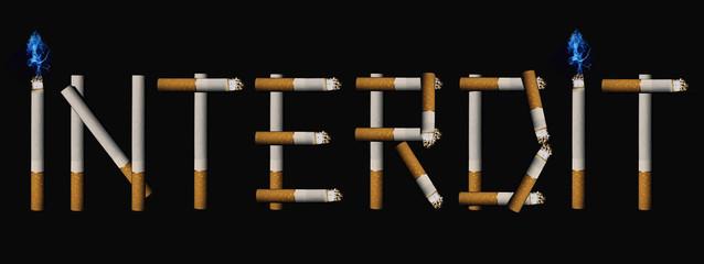 interdit fumer