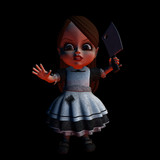 halloween doll 1 - stay back poster