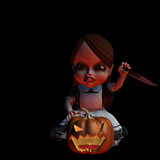 halloween doll 2 - carving poster