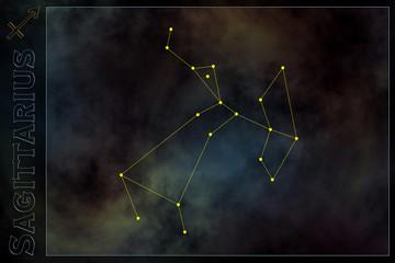 zodiac constellation - sagittarius
