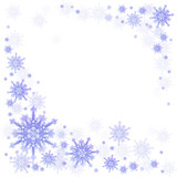 snowflake on a blue poster