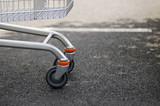 front wheels of shopping trolley