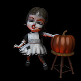 halloween doll 6 - knife poster