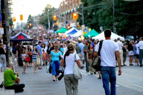 Leinwandbild Motiv street festival