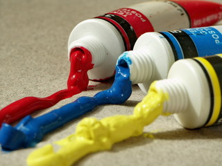 tubes de gouache