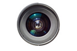 isolated lens on white background poster