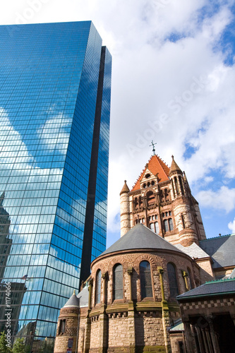 trinity church and hancock tower