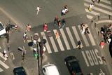 pedestrians crossing the street poster