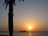 india sunset in mumbai, bombay poster