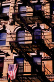 nyc apartment building poster