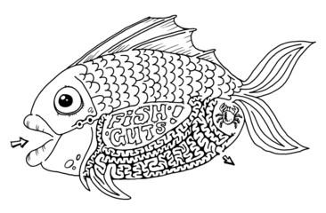 fish guts maze