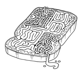 intestines on toast maze