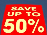 abstract, sign/symbol. save up to 50% sign poster