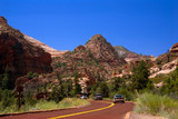 mountain in zion national park poster