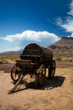 old west water wagon poster