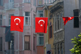 turkish flags in istanbul poster