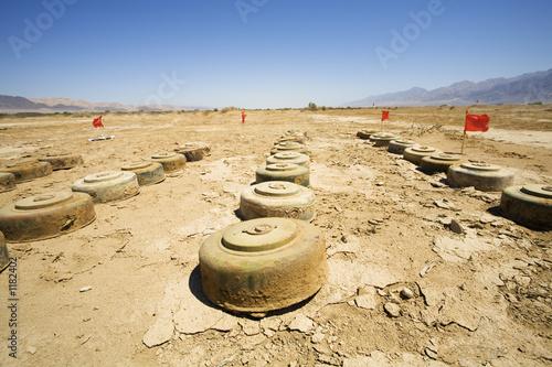 Leinwandbild Motiv anti tank mines