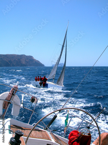 canvas print picture sailing in regatta