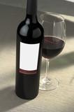 blank wine label poster