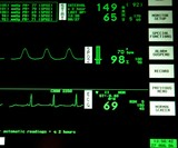 heart, blood pressure monitor. poster