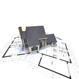 house us model plan top poster