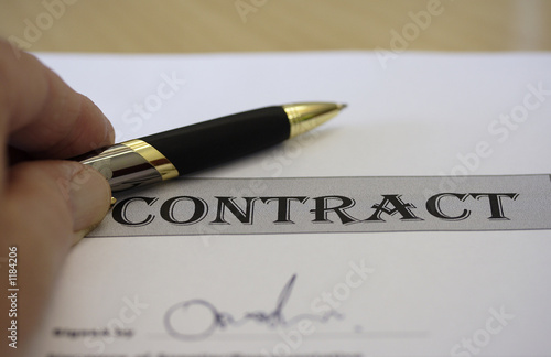 contract sign off
