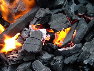 flaming coal