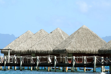group of overwater bungalows