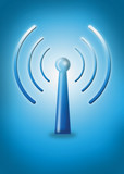 wireless internet and lan symbol poster
