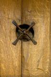 rustic door detail poster