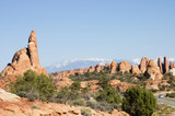 touring in arches national park 9 poster