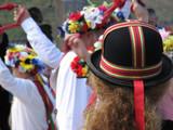 colorful hat of morris dancers poster