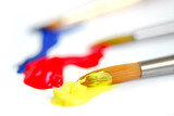 primary colors paintbrush poster