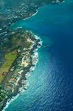 kailua-kona, big island aerial shot poster