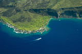 big island aerial shot - kealakekua bay poster