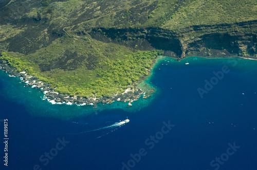 Leinwanddruck Bild big island aerial shot - kealakekua bay