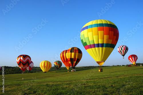 Foto Spatwand Ballon balloon landing field