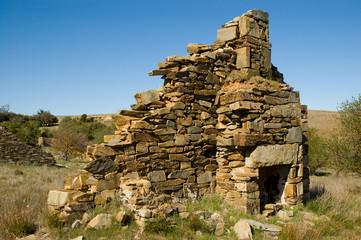 stone chimney remnants
