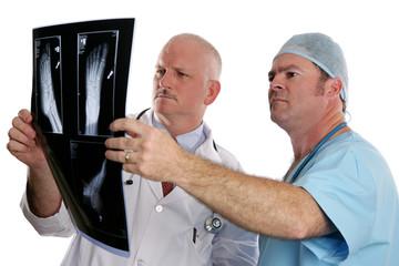 doctors examining xrays