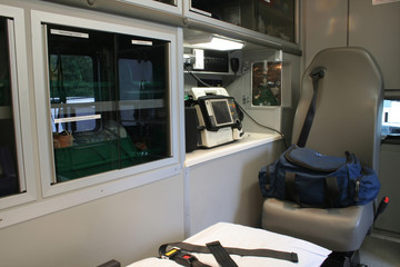 ambulance interior - a
