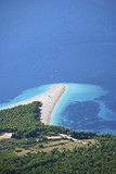 view of a beach zlatni rat in croatia poster