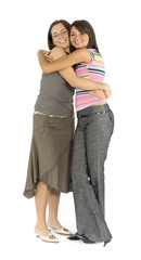 girl friends - hug