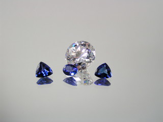 diamond and tanzanite