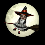 halloween doll 8 - witchy poster